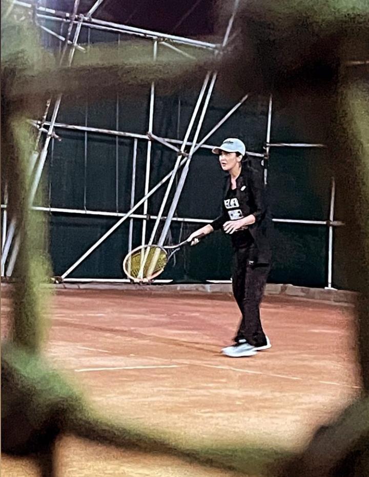 مریم معصومی در حال تنیس بازی کردن! + عکس