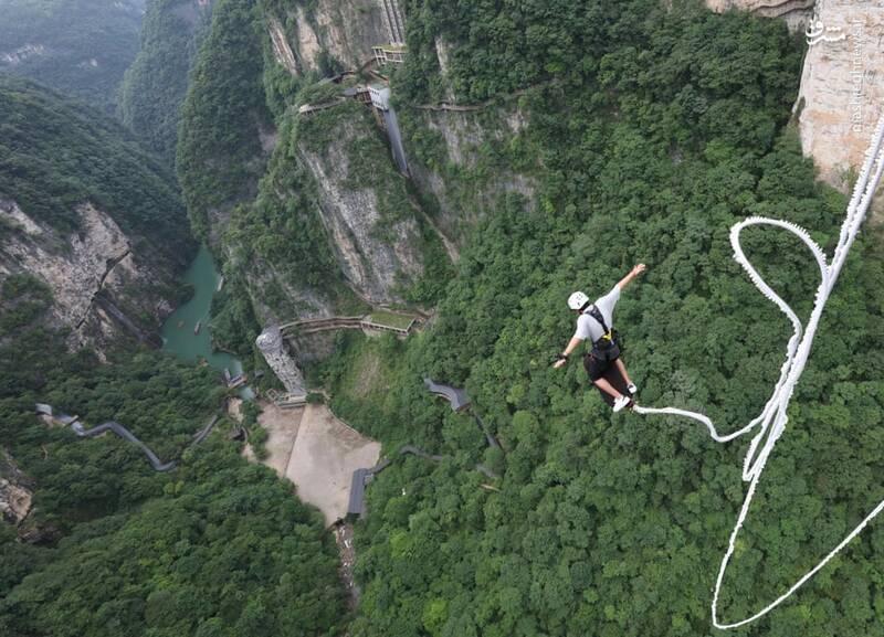 بانجی جامپینگ دیدنی در چین + عکس