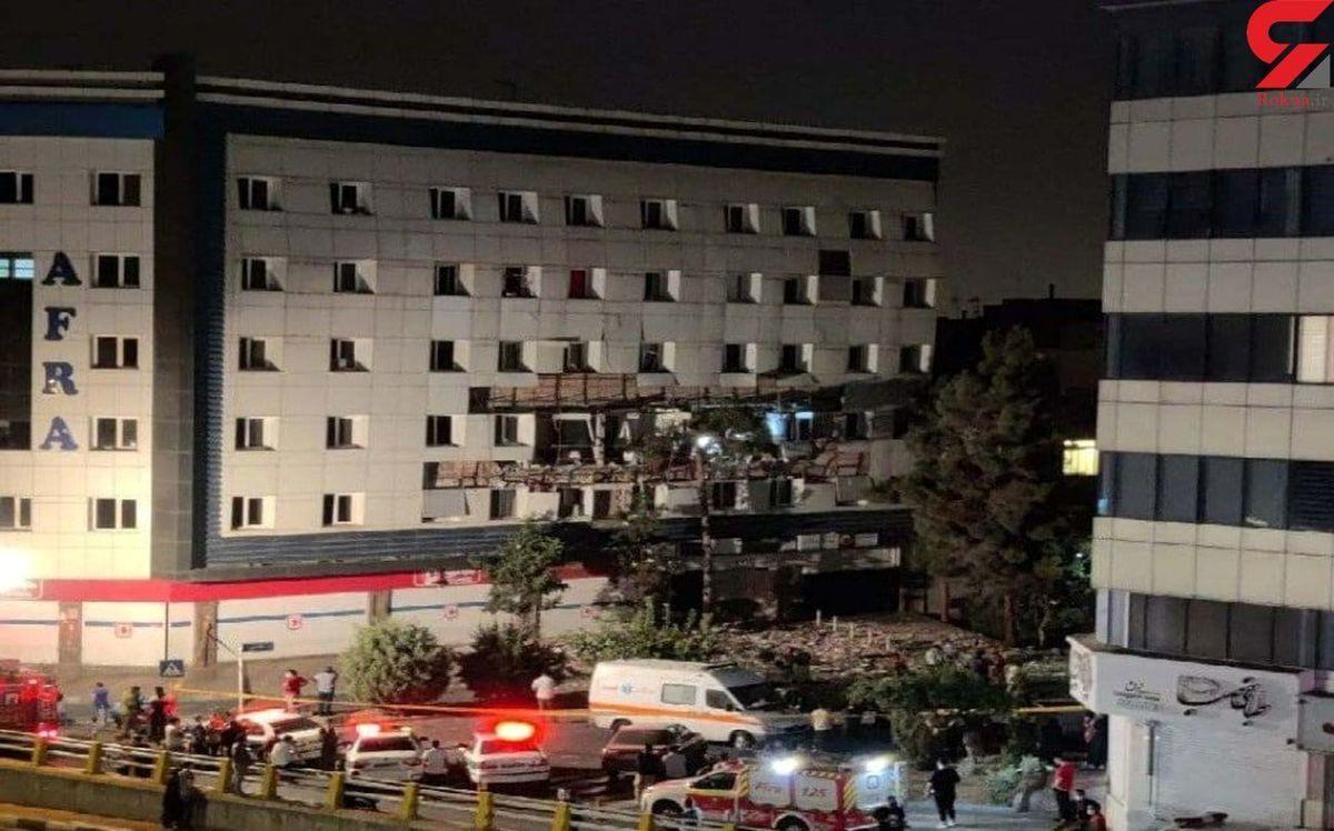 انفجار بامدادی در شهران تهران + عکس