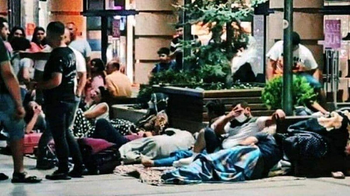 خیابانخوابی ایرانیها در ارمنستان+ عکس
