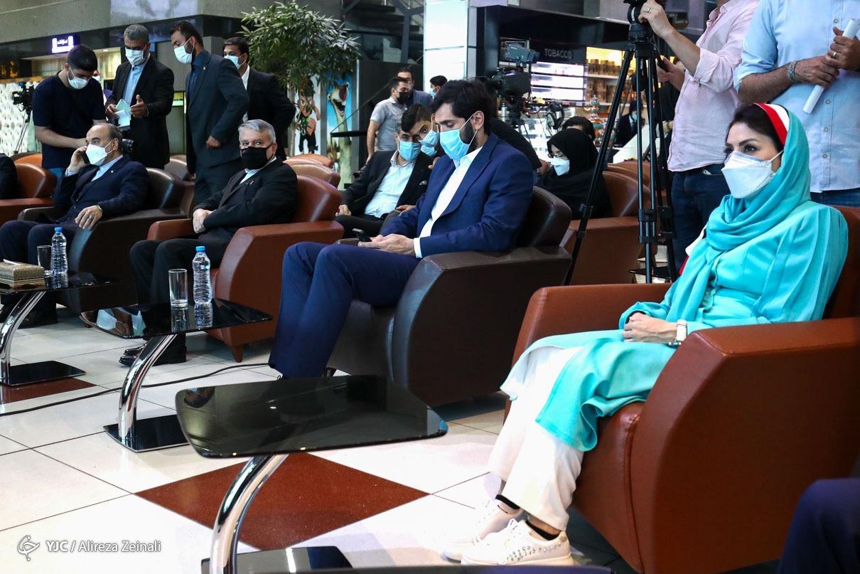 مراسم بدرقه کاروان ایران به بازیهای المپیک توکیو + عکس
