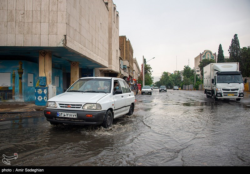 باران تابستانی در شیراز + عکس