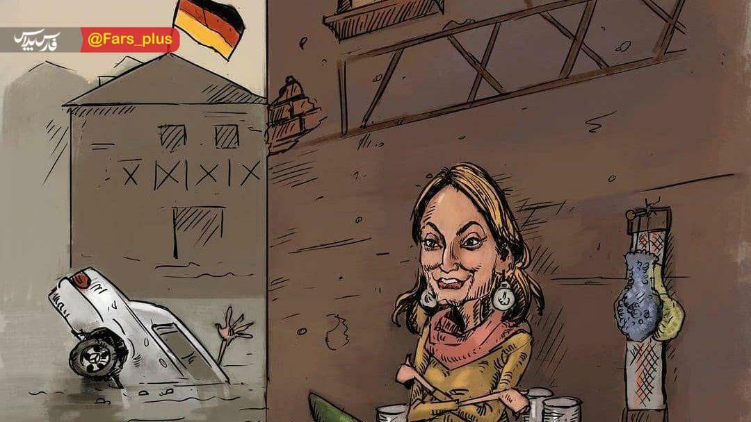 سکوت عجیب سلبریتی های آلمانی در مورد سیل! + عکس