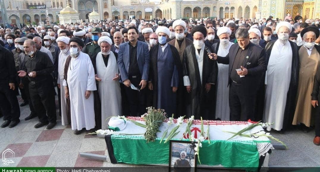 مراسم تشییع پیکر جانباز دفاع مقدس حجت الاسلام والمسلمین ابوالقاسم اقبالیان+ عکس