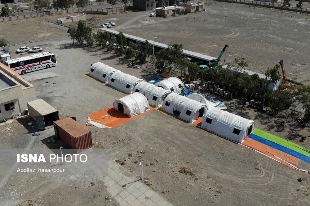 بیمارستان صحرایی کروناییها در نهبندان + تصاویر