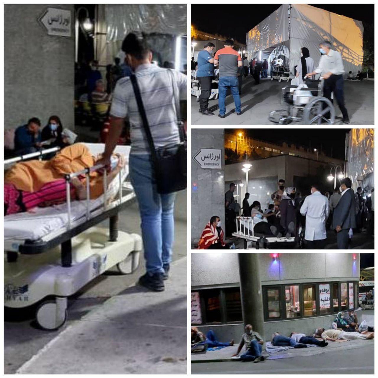وضعیت وحشتناک بیماران کرونایی دیشب در بیمارستان میلاد تهران + عکس