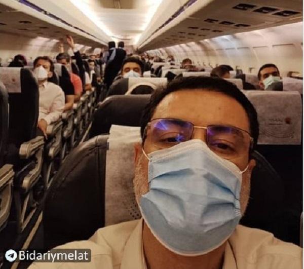 کنایه جالب قاضی زاده به شایعات  سفر با هواپیمای اختصاصی به عراق! + عکس
