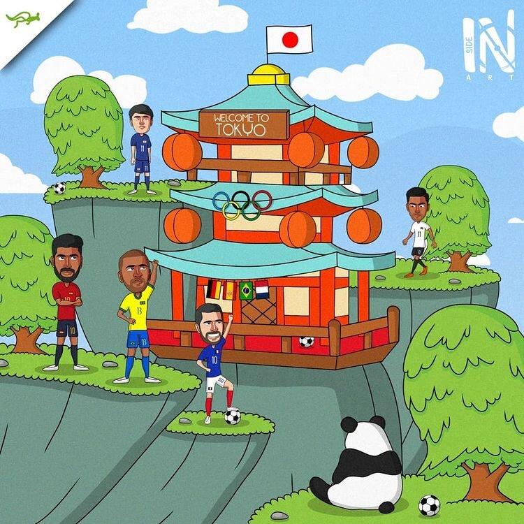 دیدار بزرگان فوتبال این بار در ژاپن + عکس