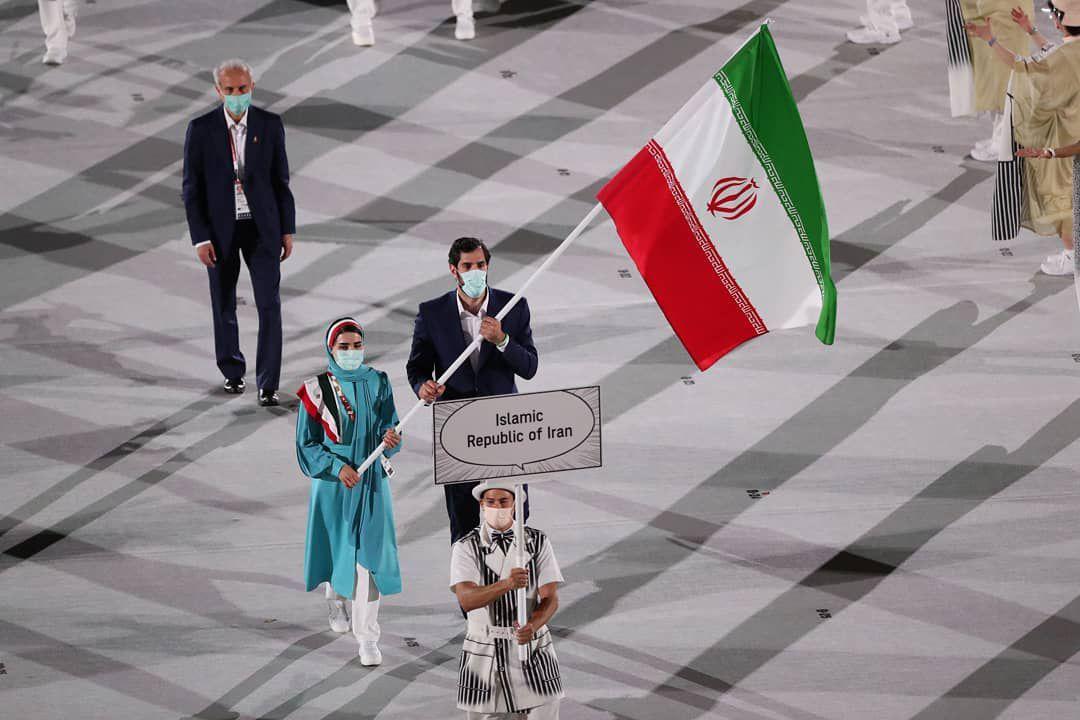 رژه کاروان ایران در مراسم افتتاحیه المپیک + عکس