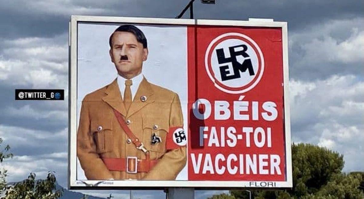 ماجرای بیلبورد جنجالی مکرون در فرانسه + عکس