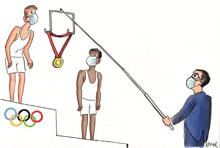 جدیدترین شیوه اهدای مدال در المپیک + عکس