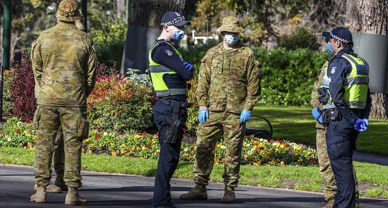 همکاری ارتش و پلیس در این کشور برای اعمال قرنطینه