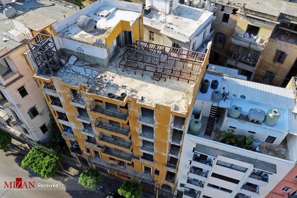 بیروت یکسال پس از انفجار + عکس