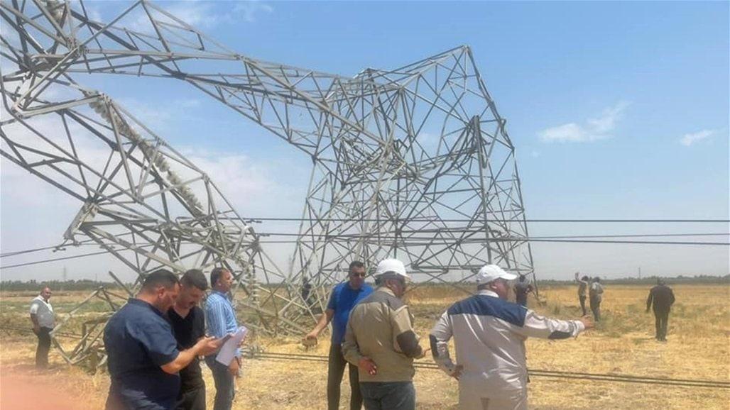 تخریب دکل های برق در عراق توسط داعش + عکس