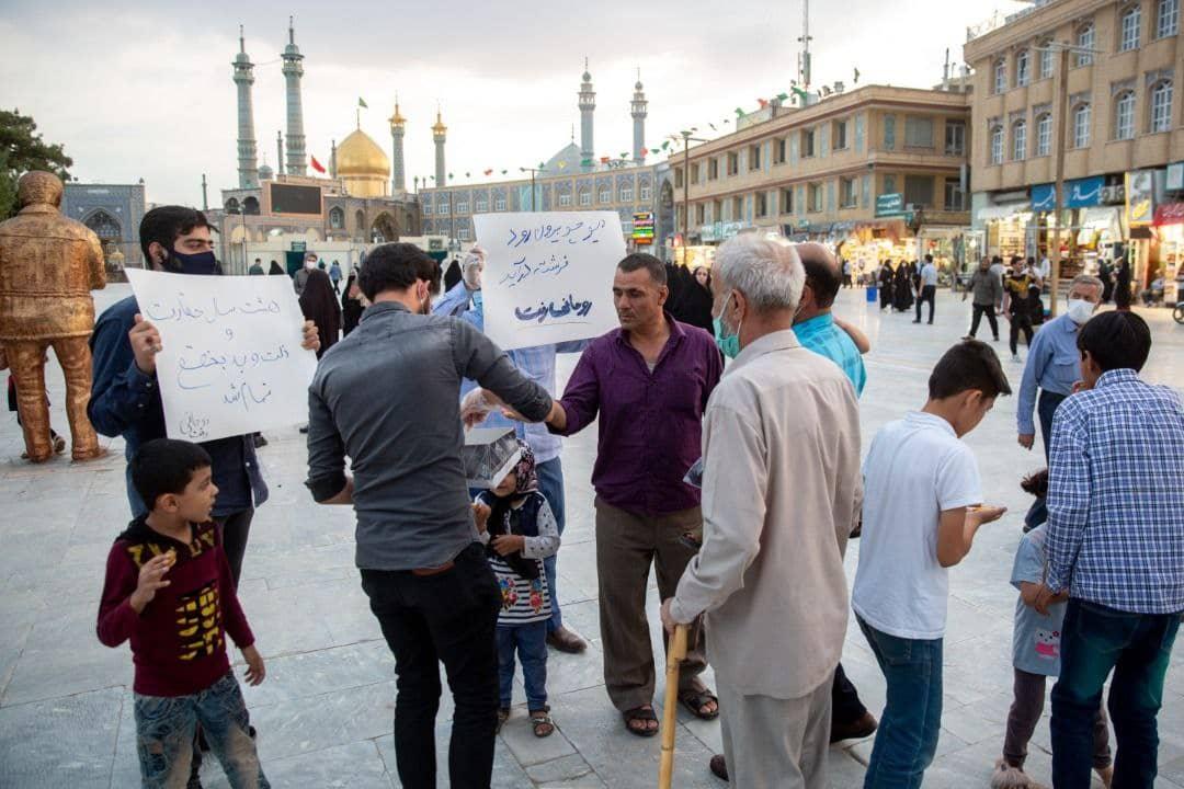 شادی مردم قم به مناسبت رفتن روحانی و ریاست جمهوری رئیسی +عکس