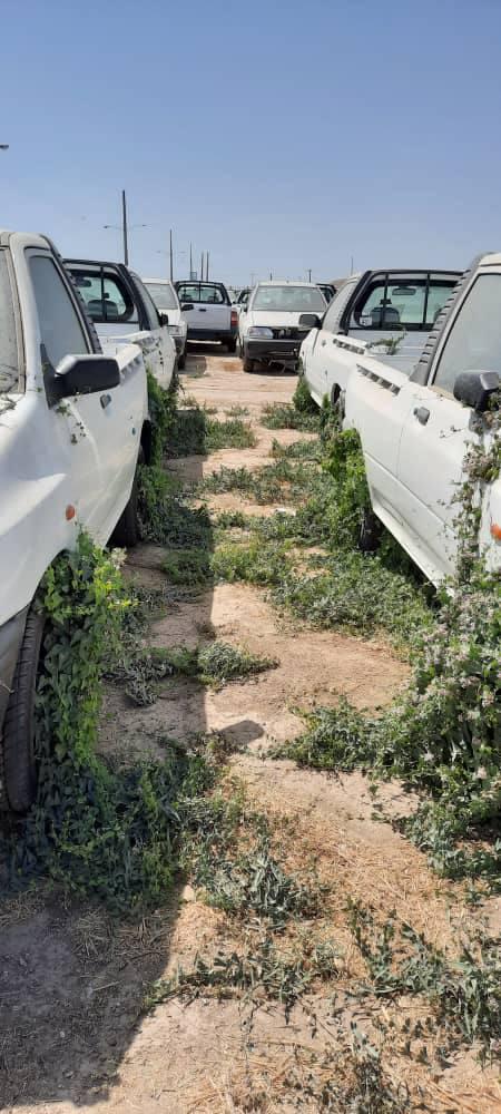 خودروهای دپو شده در انبارهای سایپا در حال از بین رفتن! + عکس