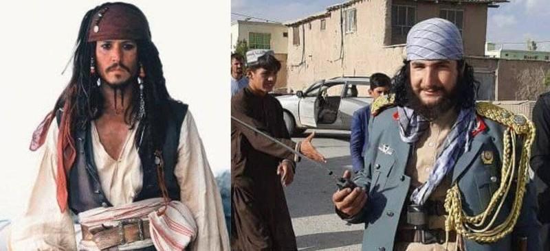 شباهت جنجالی پوشش ژنرال طالبان به «جانی دپ» در دزدان دریایی کارائیب+ عکس