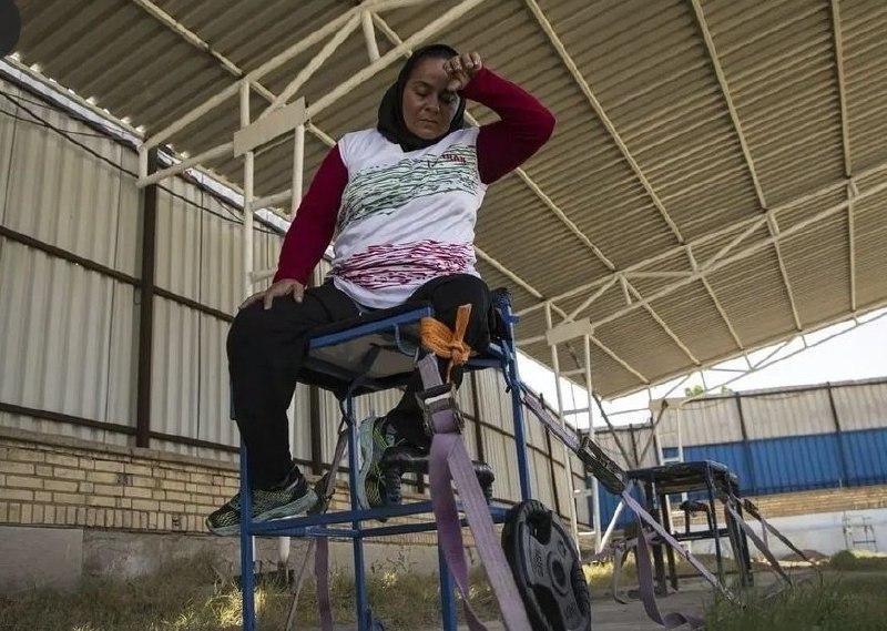 شرایط سخت تمرین کردن بانوی طلایی پارالمپیک ایران + عکس