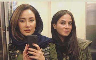 سلفی آسانسوری بهاره افشاری! + عکس