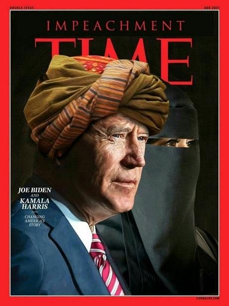 عکس جالب رئیس جمهور آمریکا با لباس طالبان