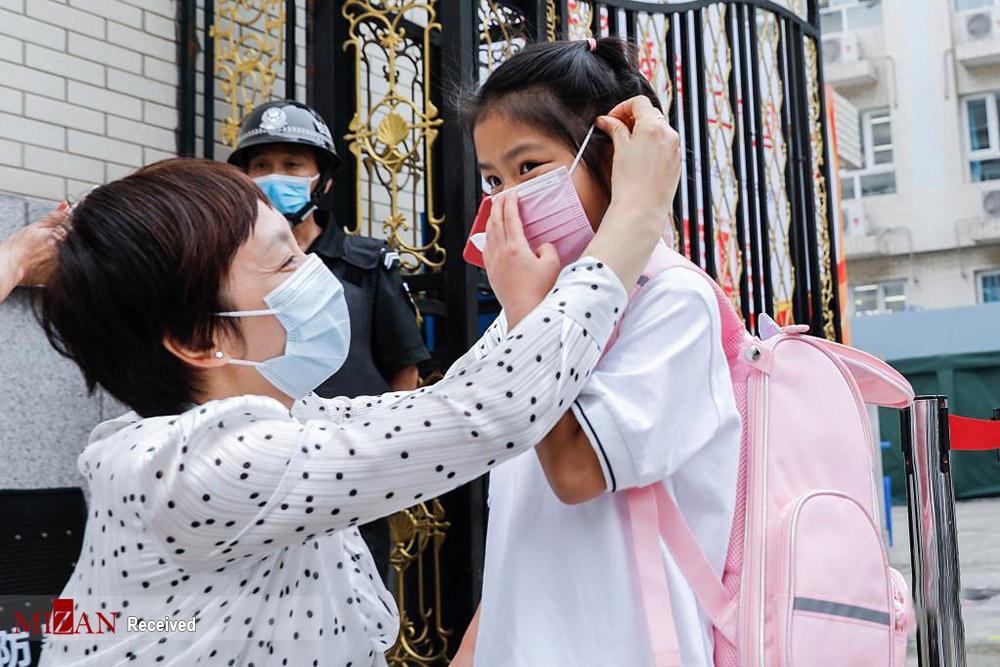 بازگشایی مدارس در چین + عکس