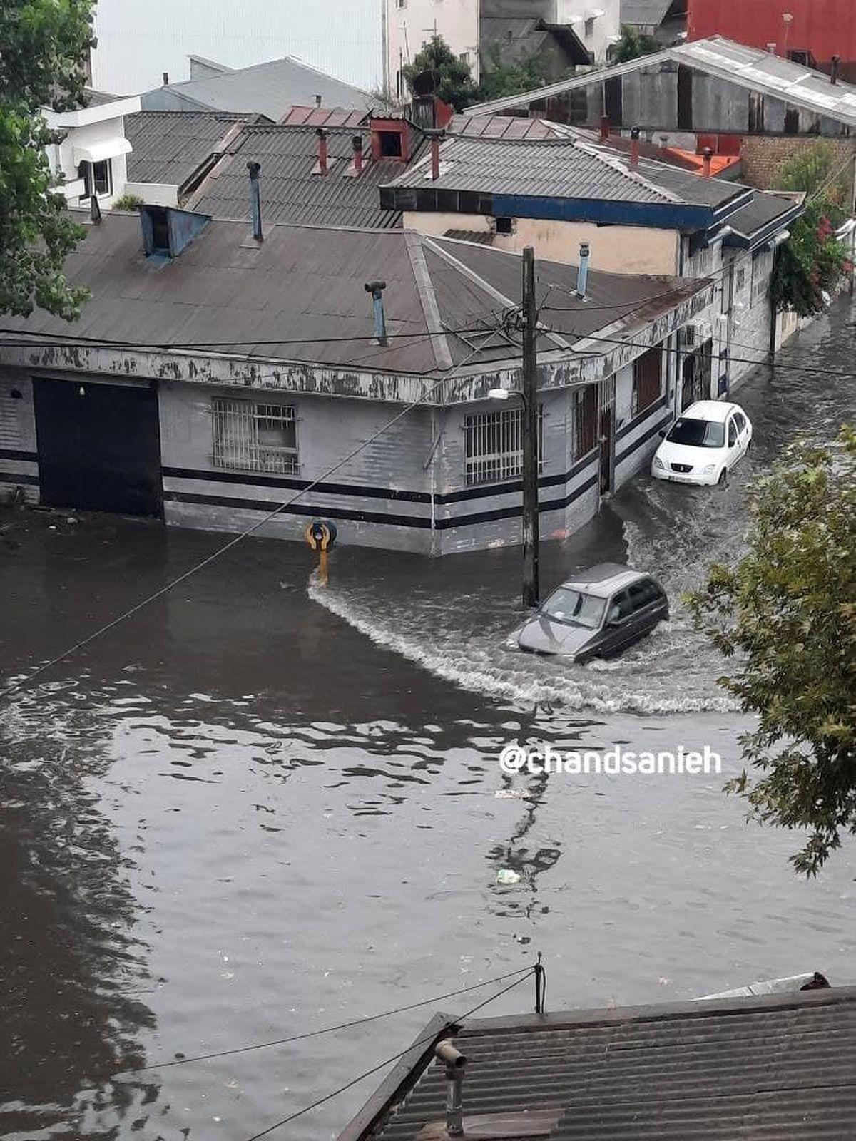 آبگرفتگی رشت بر اثر بارش شدید بامدادی +عکس