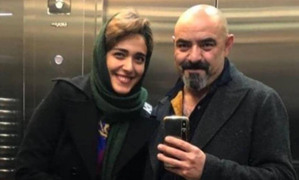 سلفی حسن معجونی با همسرش در آسانسور + عکس