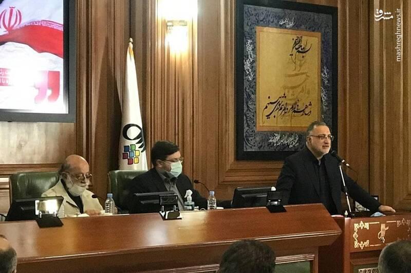 حضور زاکانی در جلسه شورای شهر تهران + عکس