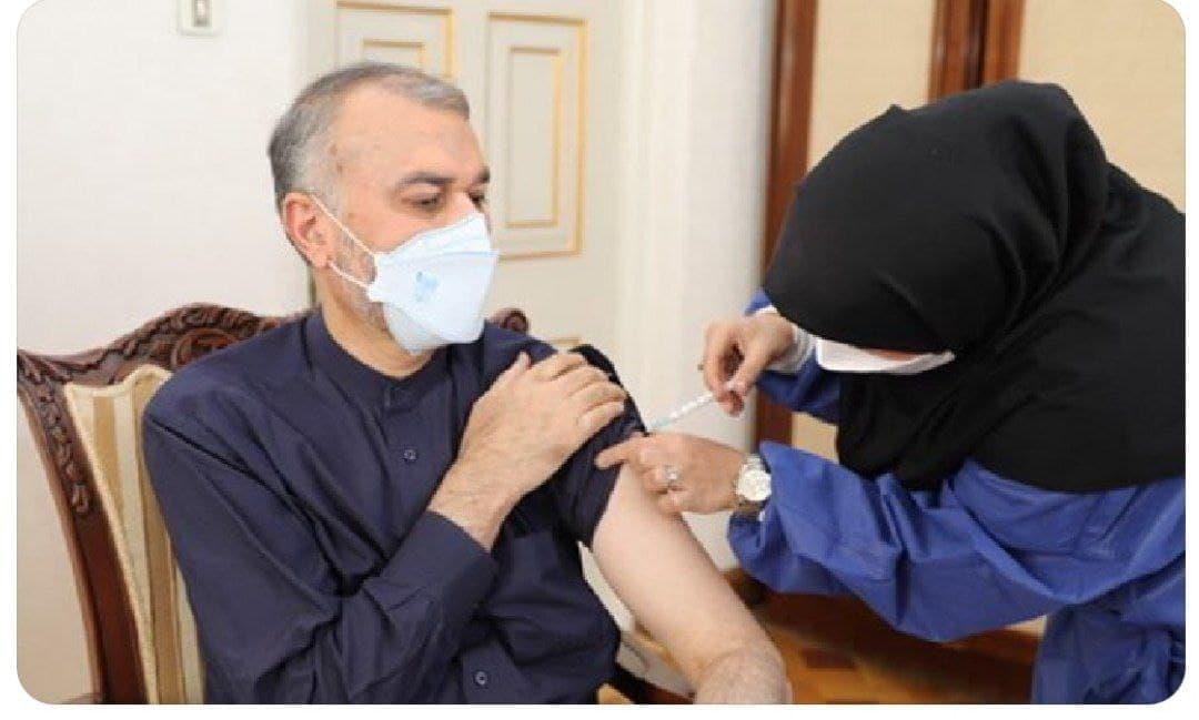 تزریق دومین دوز واکسن برکت به امیرعبداللهیان + عکس