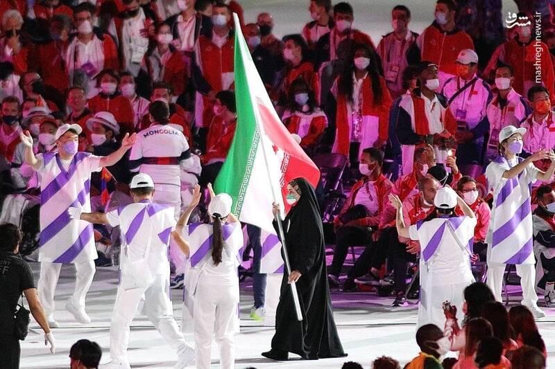 ساره جوانمردی پرچمدار ایران در مراسم اختتامیه + عکس