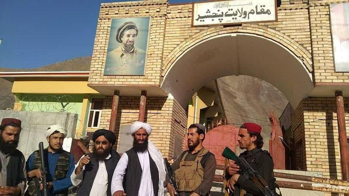 تصرف ساختمان استانداری پنجشیر به دست طالبان+ عکس