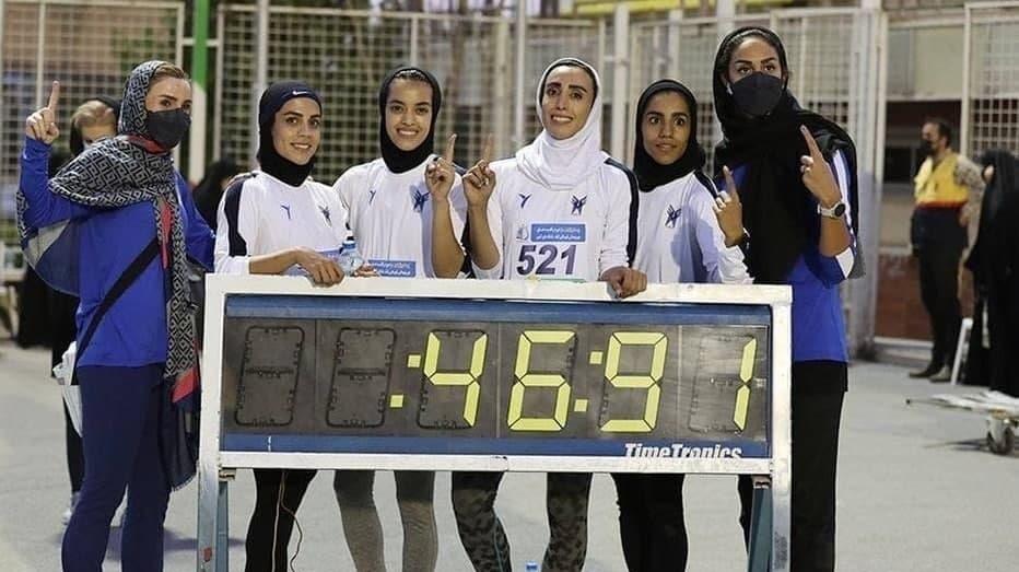 شکستن رکورد ۴ در ۱۰۰ متر زنان ایران پس از ۴۷ سال + عکس
