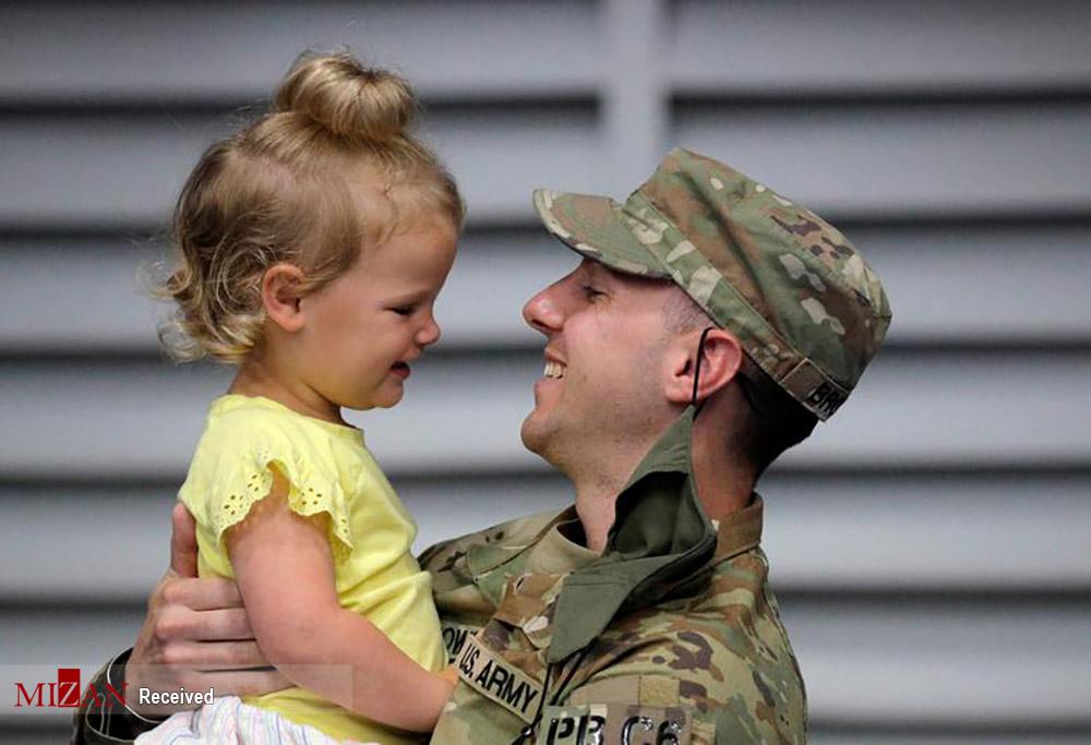 بازگشت سربازان آمریکایی + عکس