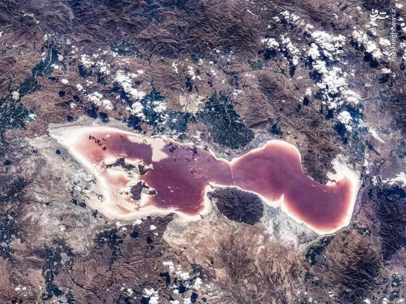 تصویر جدید ایستگاه فضایی چین از دریاچه ارومیه + عکس