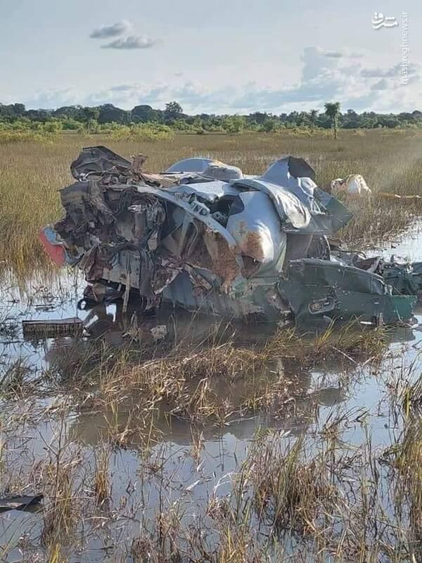 سقوط یک بالگرد در شمال ساحل عاج + عکس