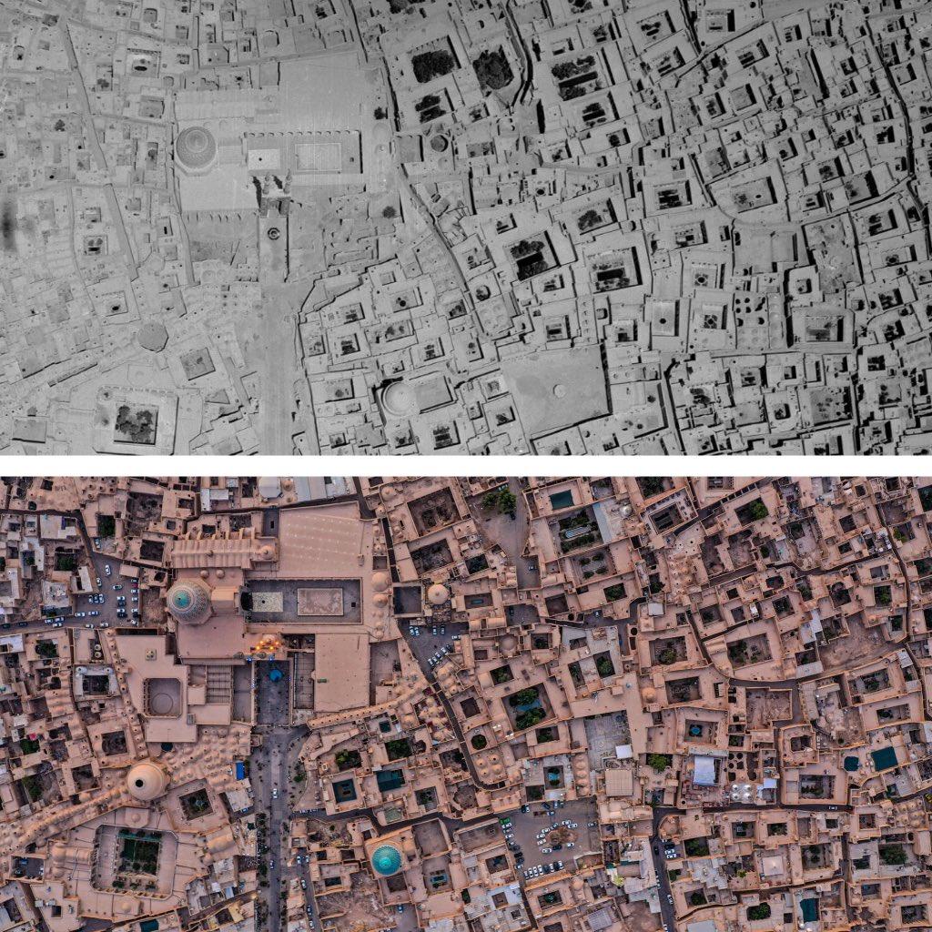 تصویر هوایی از بافت تاریخی یزد؛ ثبات 65 ساله + عکس