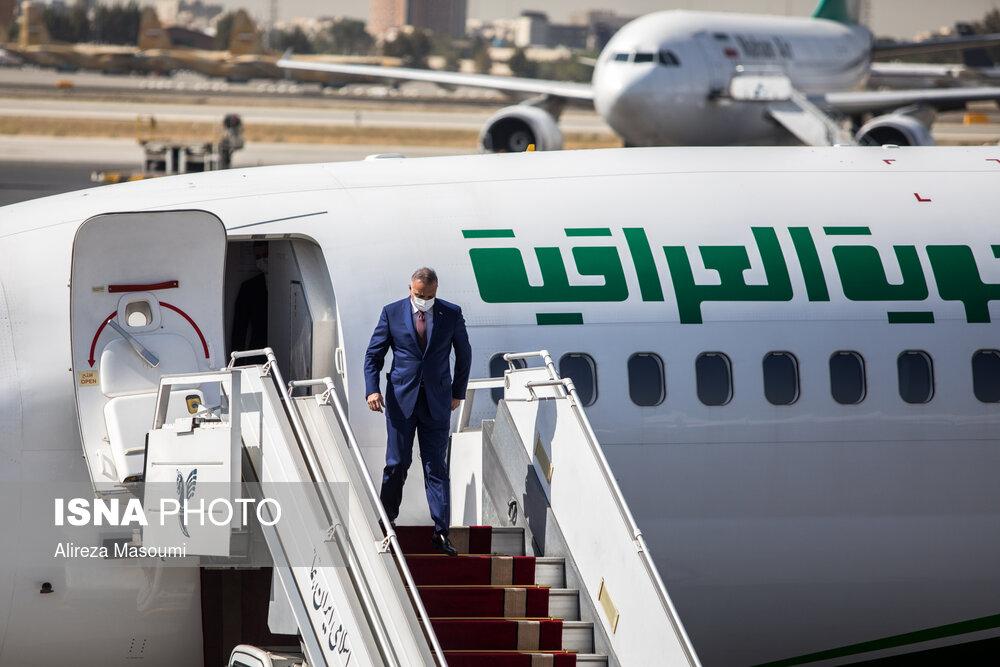 لحظه ورود نخست وزیر عراق به تهران + عکس