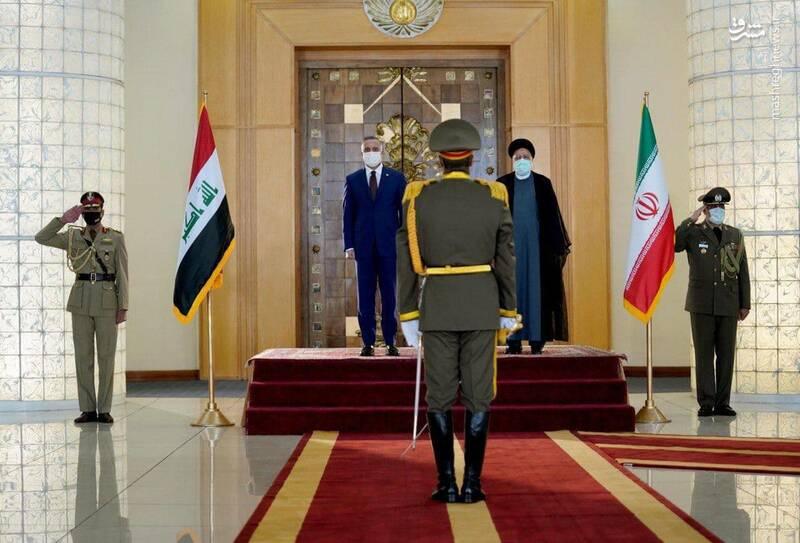 استقبال رسمی رئیسی از نخست وزیر عراق + عکس