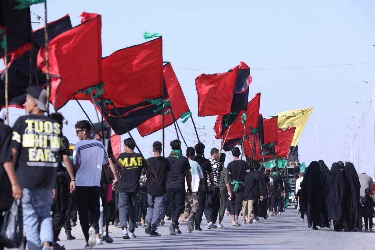 نهضت مردم بصره در پیاده روی اربعین + عکس