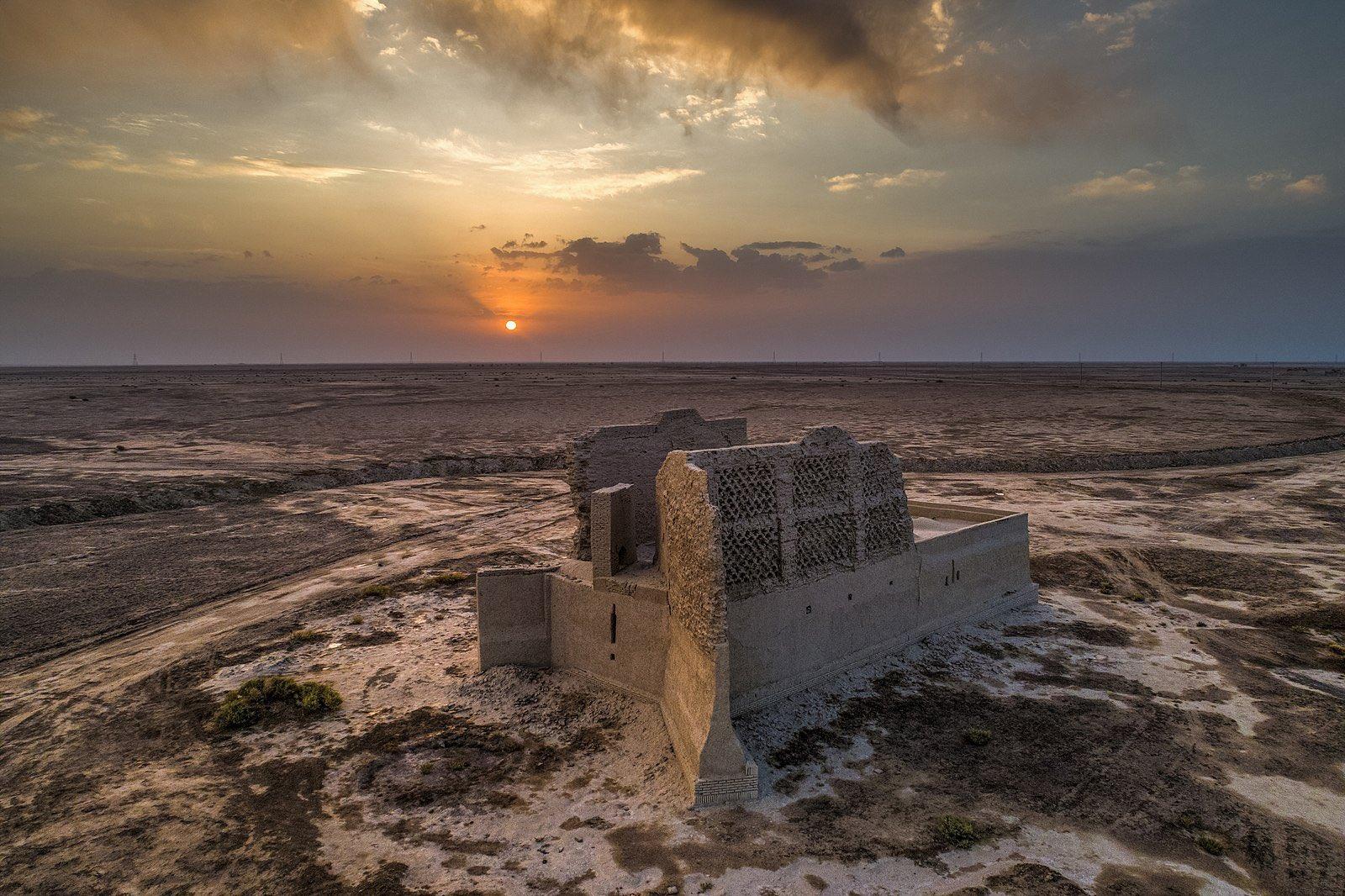 نمایی از آسیاب بادی در سیستان و بلوچستان + عکس