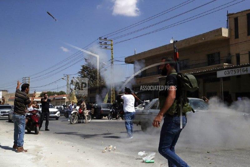 شلیک آر پی جی در بعلبک لبنان به افتخار ورود تانکرهای سوخت +  عکس