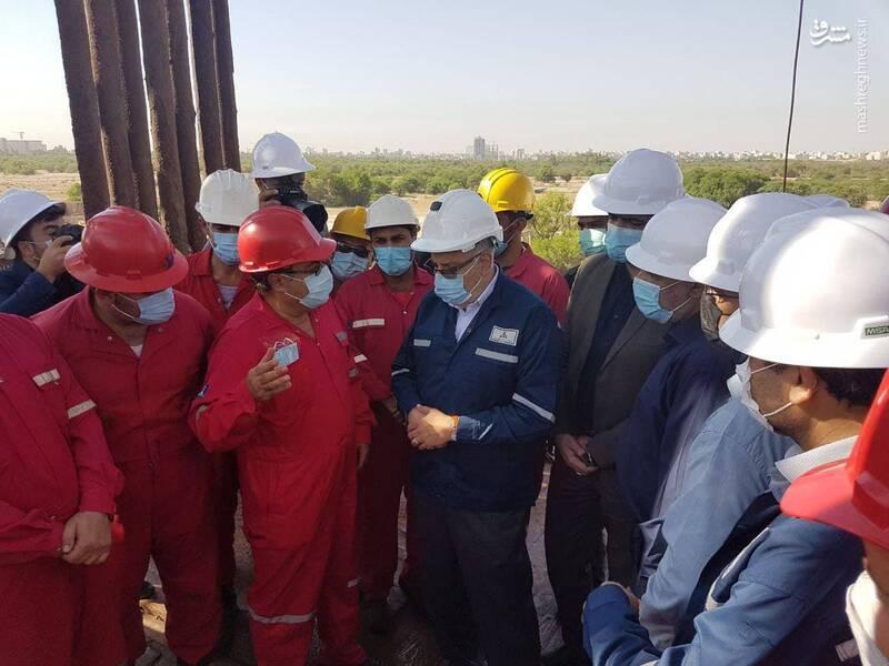 سفر سرزده وزیر نفت به استان خوزستان + عکس