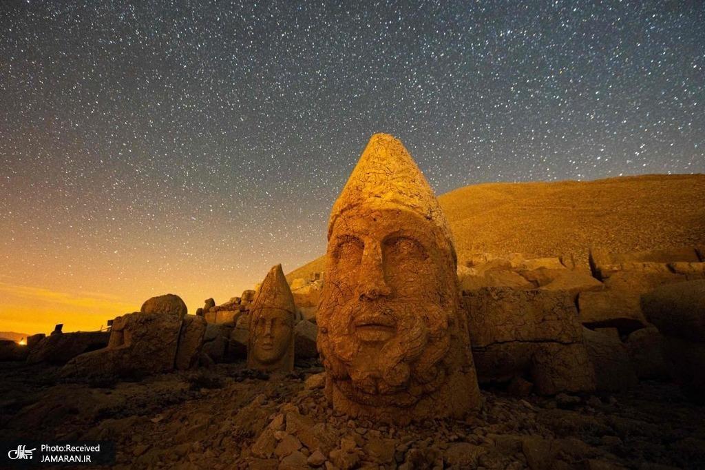 مجسمه های دیدنی کوه نمرود در ترکیه + عکس
