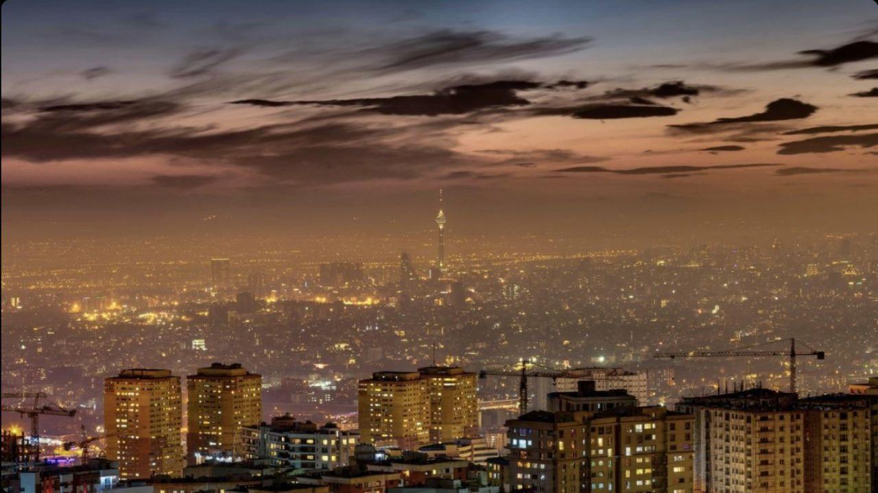 چشم اندازی رویایی از تهران در شب + عکس