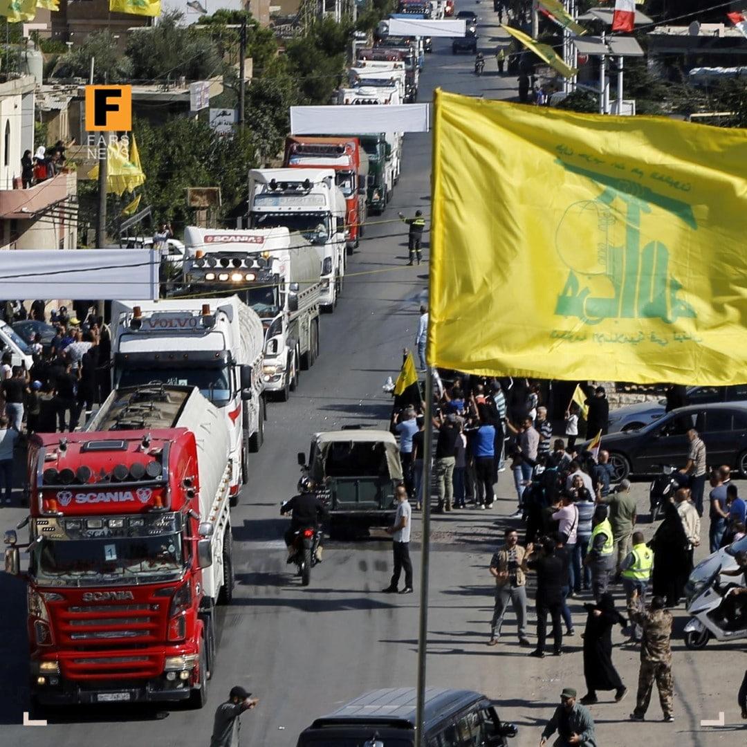 ورود پنجمین کاروان سوخت ایران به خاک لبنان + عکس