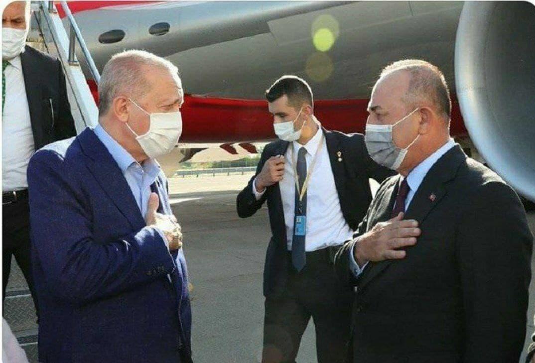 حرکت عجیب و جنجالی اردوغان در فرودگاه نیویورک! + عکس