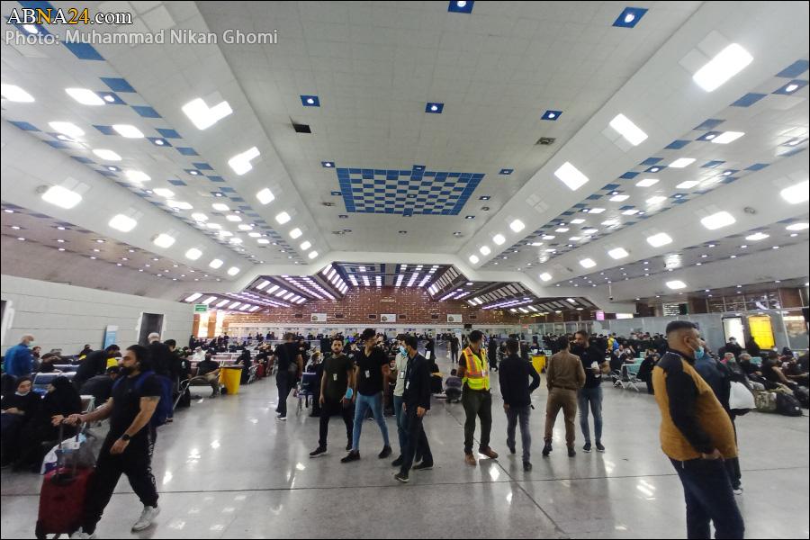 حال و هوای فرودگاه نجف در ایام زیارت اربعین + عکس