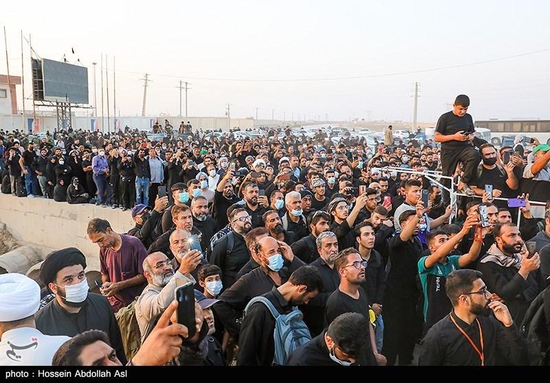 تجمع زائران در مرز شلمچه با شایعات فضای مجازی + عکس