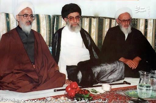 تصویر قدیمی از حسن زاده آملی در کنار رهبر انقلاب + عکس