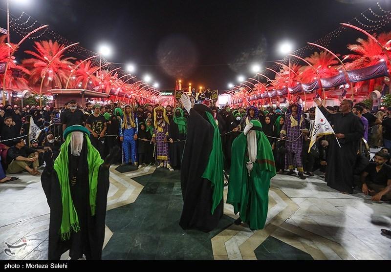 حال و هوای بین الحرمین در شب اربعین حسینی + عکس